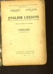 English Lessons - Premiere Annee - Couverture - Format classique