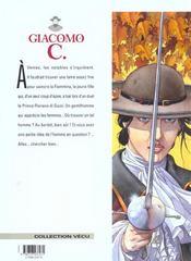 Giacomo C. t.12 ; la fiammina - 4ème de couverture - Format classique
