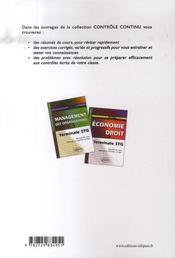 Controle Continu ; Histoire-Géographie ; Terminale Stg - 4ème de couverture - Format classique