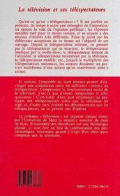 La Television Et Ses Telespectateurs - 4ème de couverture - Format classique