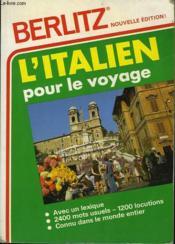 Italien Pour Le Voyage - Couverture - Format classique