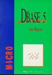 Dbase 5 pour Windows - Couverture - Format classique