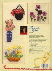 Encyclopédie de la broderie au ruban ; les fleurs - 4ème de couverture - Format classique