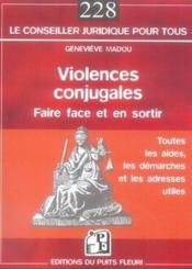 Violences conjugales : faire face et en sortir - Couverture - Format classique