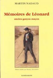 Mémoires de Léonard ; ancien garcon maçon - Intérieur - Format classique