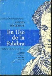 En Uso De La Palabra - Couverture - Format classique