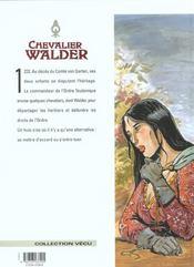 Chevalier Walder t.6 ; chevalier teutonique - 4ème de couverture - Format classique