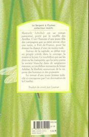 Mamzelle libellule - 4ème de couverture - Format classique