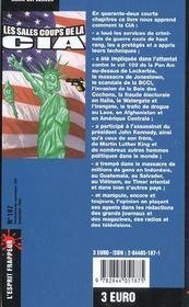 Les Sales Coups De La Cia - 4ème de couverture - Format classique