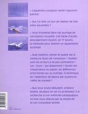 Et Si J'Apprenais T.1 ; L'Aquarelle - 4ème de couverture - Format classique