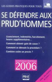 Se Defendre Aux Prud Hommes 2006 - Intérieur - Format classique