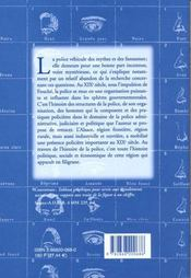Police Et Societe. Histoire De La Police Et De Son Activite En Alsace Au 19e Siecle - 4ème de couverture - Format classique
