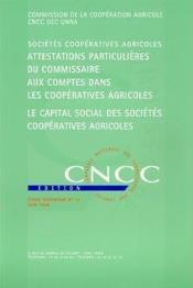 Attestations particulières du commissaire aux comptes dans les coopératives agricoles - Couverture - Format classique