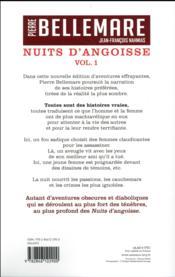 Nuits d'angoisse t.1 - 4ème de couverture - Format classique