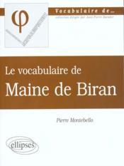 Maine De Biran - Couverture - Format classique