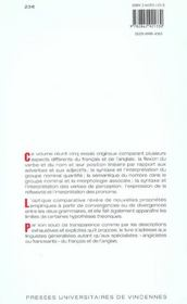 Essais de grammaire comparée du français et de l'anglais - 4ème de couverture - Format classique