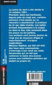 La Police Et La Peine De Mort - 4ème de couverture - Format classique