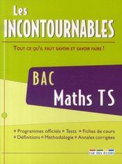 Les incontournables ; maths ; terminale s - Intérieur - Format classique