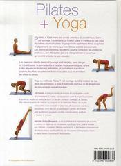 Pilates et yoga - 4ème de couverture - Format classique
