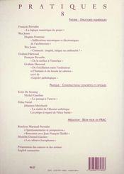 Pratiques 8 - 4ème de couverture - Format classique