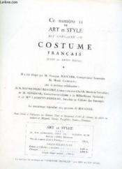 Art Et Style - Costume Francais - Couverture - Format classique