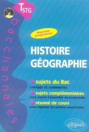 Bacchannales ; Histoire-Géographie ; Terminale Stg ; Sujets Du Bac Corrigés Et Commentés Et Résumé De Cours - Intérieur - Format classique