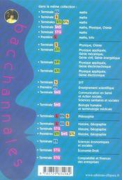 Bacchannales ; Histoire-Géographie ; Terminale Stg ; Sujets Du Bac Corrigés Et Commentés Et Résumé De Cours - 4ème de couverture - Format classique