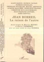 Jean Borreil.La Raison De L'Autre - Couverture - Format classique