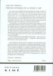 Parcours Initiatiques De La Nature A L'Art - 4ème de couverture - Format classique