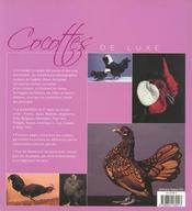 Cocotte de luxe - 4ème de couverture - Format classique