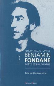Rencontre Autour De Benjamin Fondane (Acte Colloque) - Intérieur - Format classique