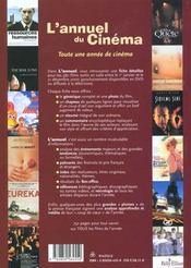 L'Annuel Du Cinema 2001 ; Tous Les Films 2000 - 4ème de couverture - Format classique