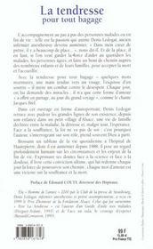La Tendresse Pour Tout Bagage - 4ème de couverture - Format classique