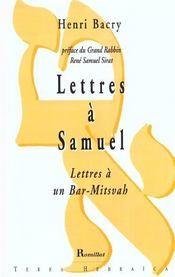 Lettres A Samuel - Intérieur - Format classique