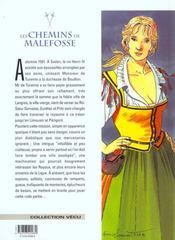 Les chemins de Malefosse t.8 ; l'herbe d'oubli - 4ème de couverture - Format classique