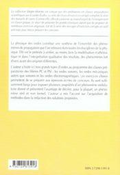 Physique Des Ondes 2e Annee Pc-Pc*Psi-Psi* Exercices Corriges - 4ème de couverture - Format classique