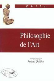 Philosophie De L'Art - Intérieur - Format classique
