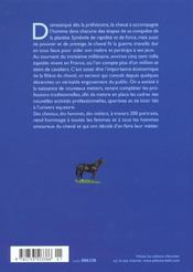 Des Chevaux, Des Hommes, Des Metiers - 4ème de couverture - Format classique