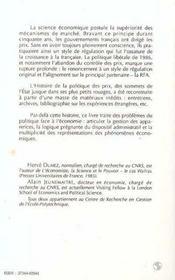 Diriger L'Economie: L'Etat Et Les Prix En France ... - 4ème de couverture - Format classique