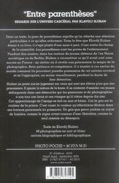 Entre Parentheses Photo Poche Societe N 12 - 4ème de couverture - Format classique