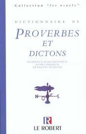 Dictionnaire De Proverbes Et Dictons - Intérieur - Format classique