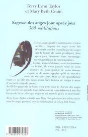 Sagesse Des Anges Jour Apres Jour ; 365 Meditations - 4ème de couverture - Format classique