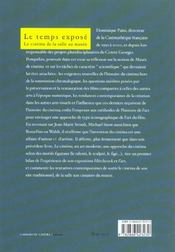 Temps Expose (Le) - 4ème de couverture - Format classique