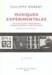 Musiques expérimentales ; une anthologie transversale d'enregistrements emblématiques - Intérieur - Format classique