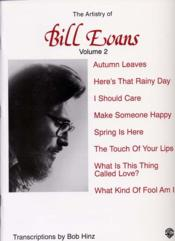 Artistry of bill evans t.2 ; piano - Couverture - Format classique