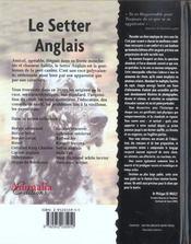 Le Setter Anglais - 4ème de couverture - Format classique
