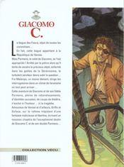 Giacomo C. t.6 ; la bague des fosca - 4ème de couverture - Format classique