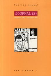 Journal t.2 ; septembre 1993- decembre 1993 - Couverture - Format classique
