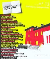 Villa Gillet 13 - Litteratures Europeennes - Intérieur - Format classique