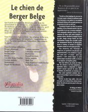 Le Berger Belge - 4ème de couverture - Format classique